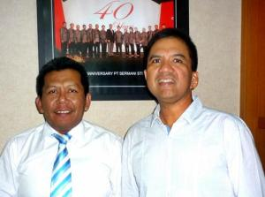 Samiun  & Rudy S Sjamsuddin ( Managing Director PT.Sermani Steel Corp ).