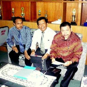 PR.III Muh Natsir (ki-ka)Abduh,Samiun,Muchlis dalam kesempatan Silaturrahmi