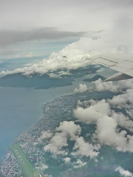 View From Sriwijaya Air ,Kota Ternate dan Pulau Maitara serta Pulau Tidore